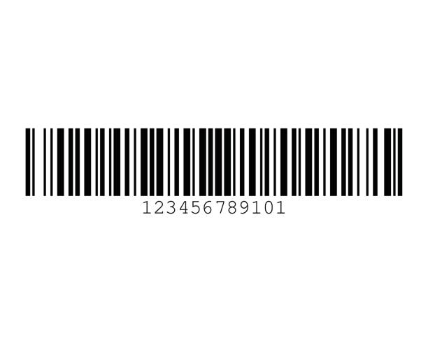Code 128A Barcode Standard Sample vector art illustration