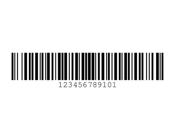 Code 128B Barcode Standard Sample vector art illustration