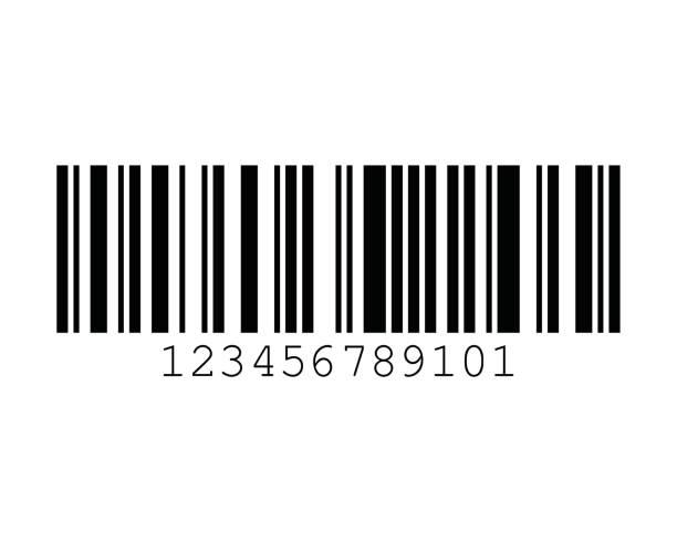 Code 128C Barcode Standard Sample vector art illustration