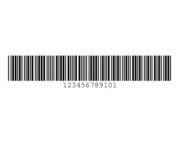 Code 39 Include Checksum Barcode Standard Sample vector art illustration