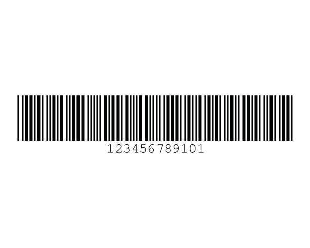 Code 39 Not Include Checksum Barcode Standard Sample vector art illustration