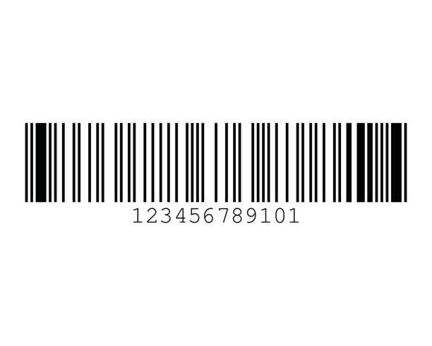 Code 93 Barcode Standard Sample vector art illustration