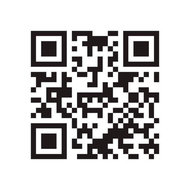 QR-Code. Abstrakte Vektor moderne Barcode-Beispiel für Smartphone-Scannen isoliert auf weißem Hintergrund. Datenverschlüsselung – Vektorgrafik