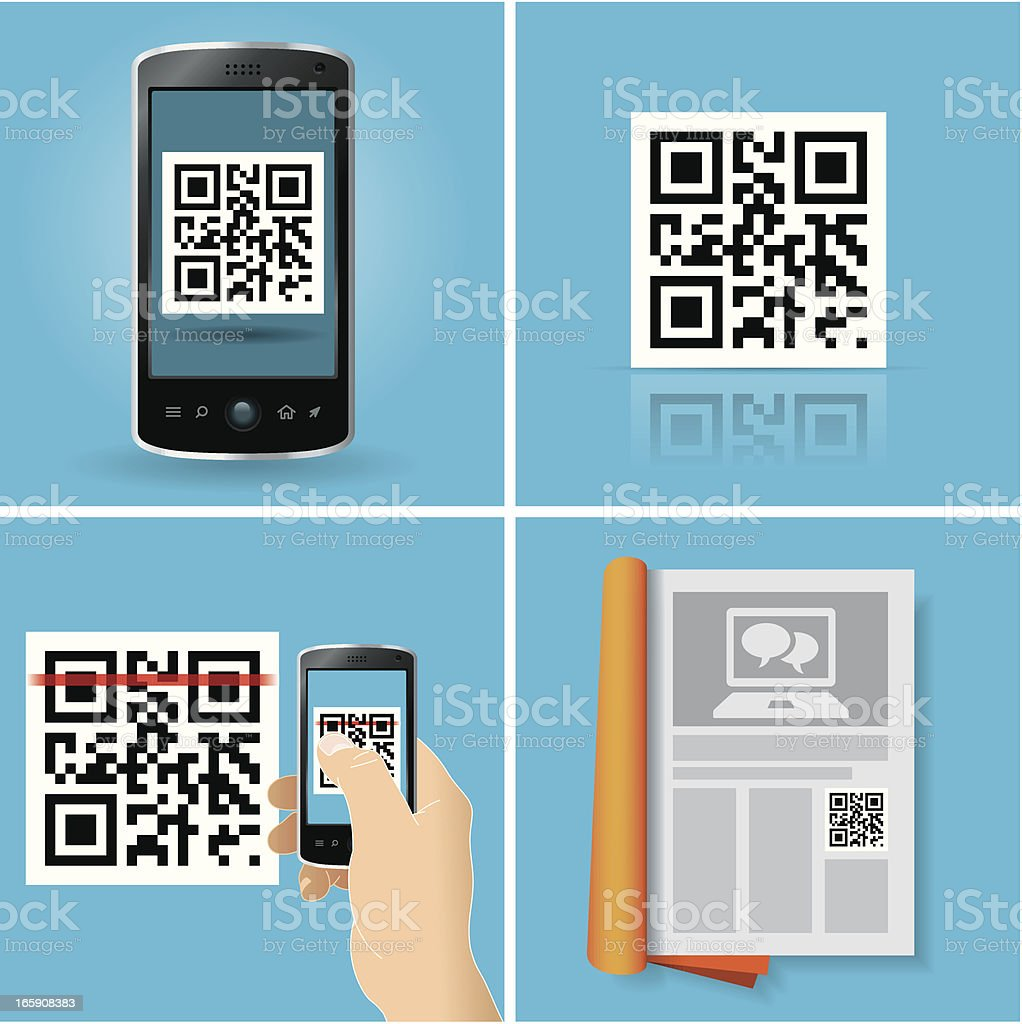 QR Code concepts vector art illustration