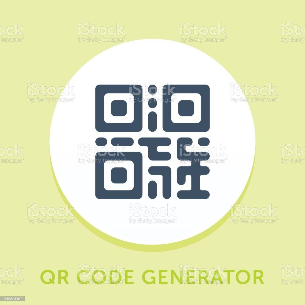 QR Code Curve Icon