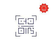 istock QR Code Icon with Editable Stroke 1321696745