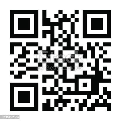 istock QR code - Illustration 828088276