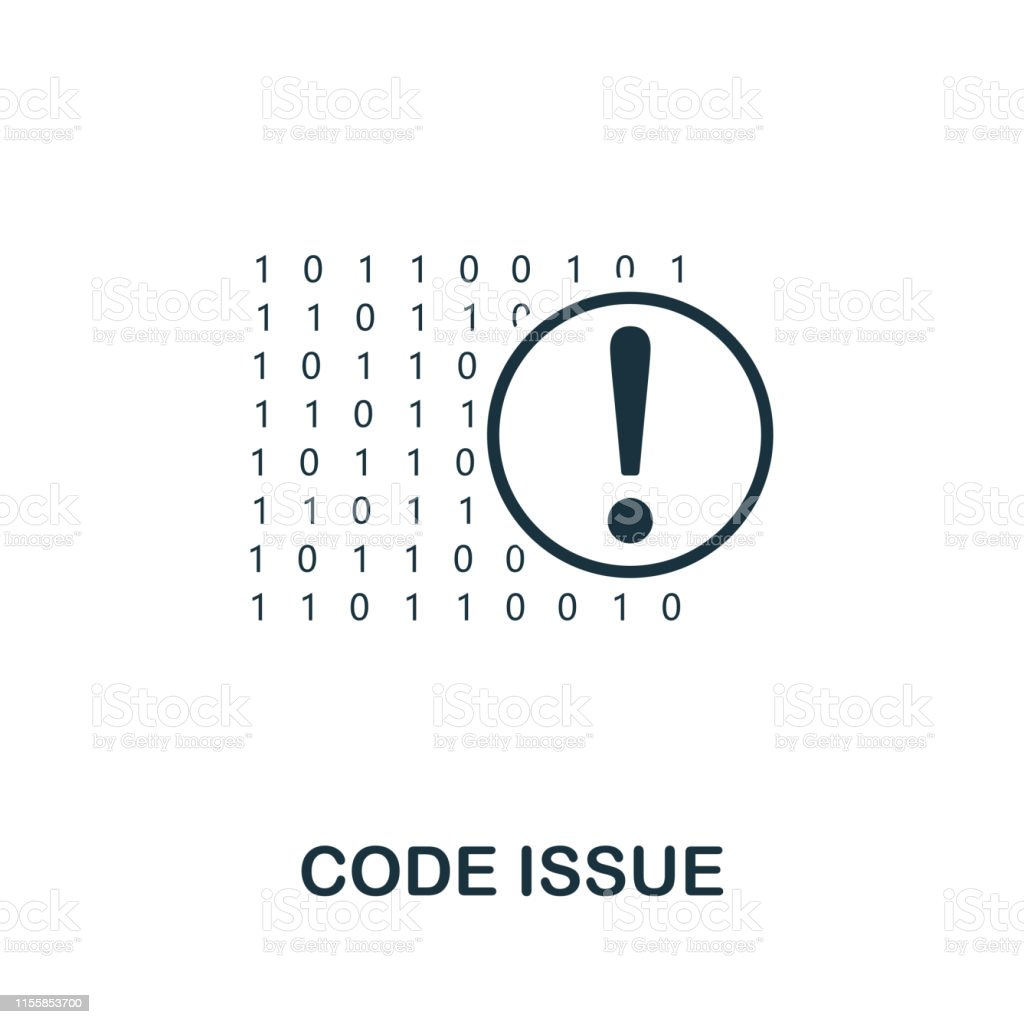 Code Issue icon. Creative element design from programmer icons...