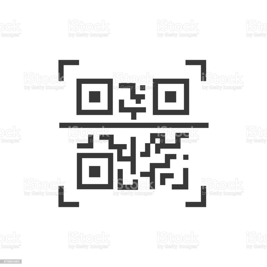 QR code - line design single isolated icon