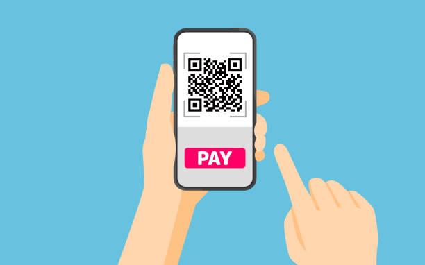 QR-Code-Zahlung – Vektorgrafik