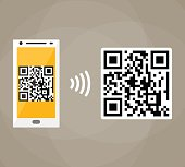 QR code scanning by mobile phone