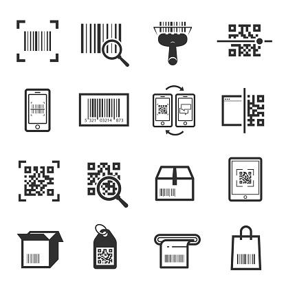 Code scanning icon set