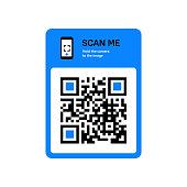 istock QR code scanning sticker for smartphone. 1187395193