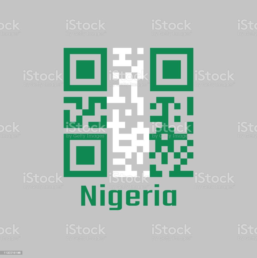 Qr Code Set The Color Of Nigeria Flag A Vertical Bicolor Triband Of Green White And Green Immagini Vettoriali Stock E Altre Immagini Di Affari Istock