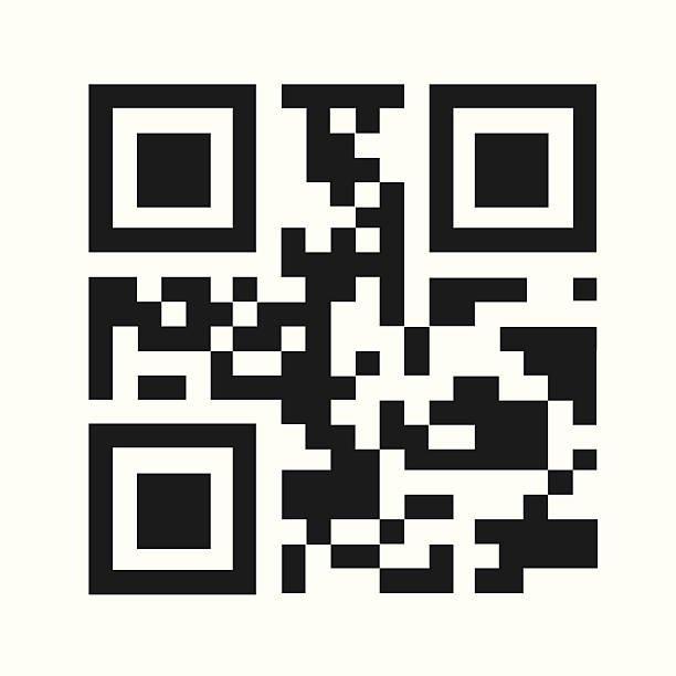 Clipart Black And White QR Code - Royalty Free Vector Illustration by michaeltravers #1100848