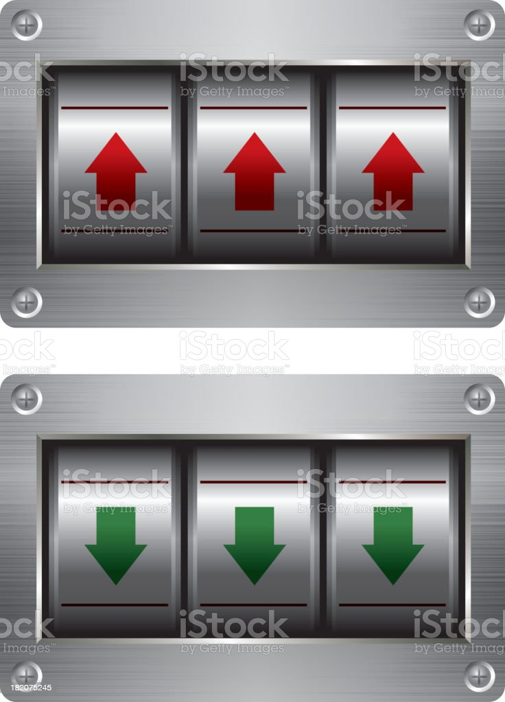 Coded lock royalty-free stock vector art