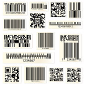QR codes and barcodes with numbers