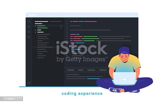 istock Coding experience and software development 1248507177