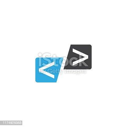 Programming Code technology vector template