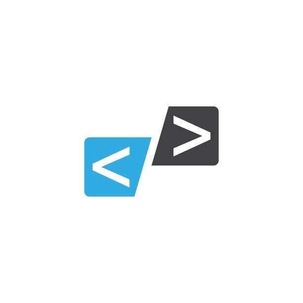 codierungstechnologie-logo - html stock-grafiken, -clipart, -cartoons und -symbole