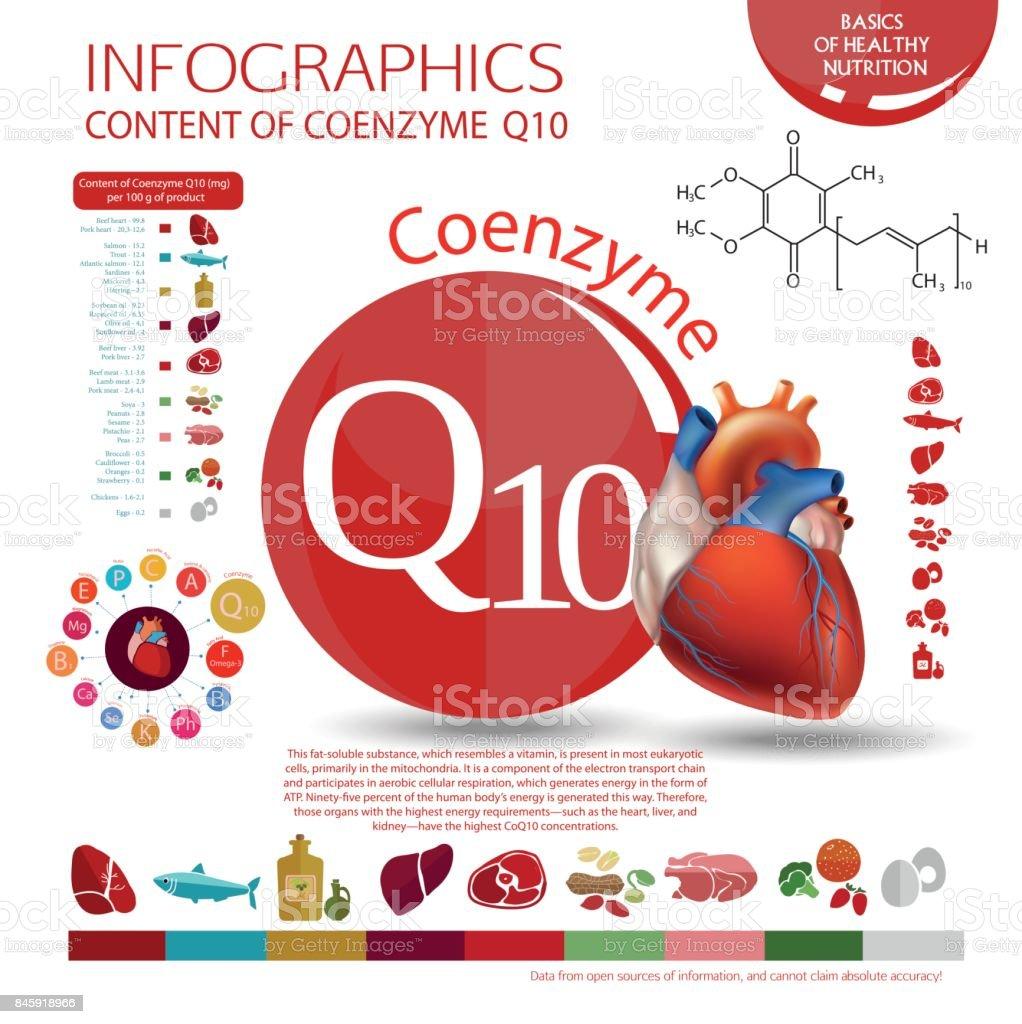 Coenzima Q10 - ilustración de arte vectorial