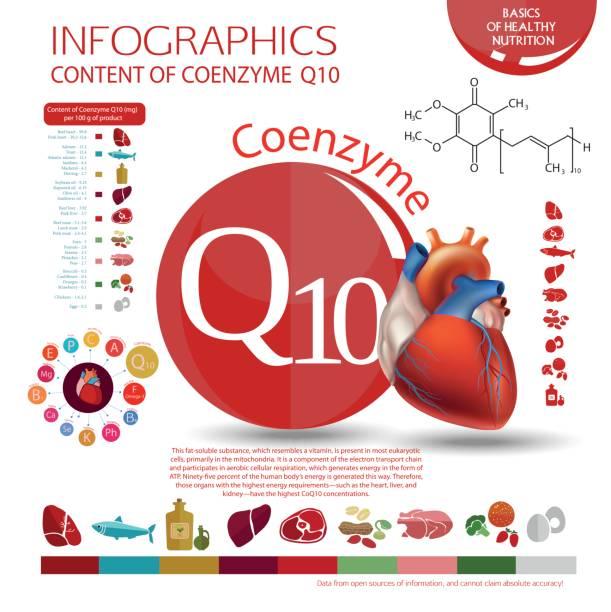 illustrations, cliparts, dessins animés et icônes de coenzyme q10 - antioxydant