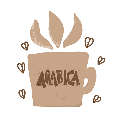 Coffe blend sorts vector. Robusta and arabica.