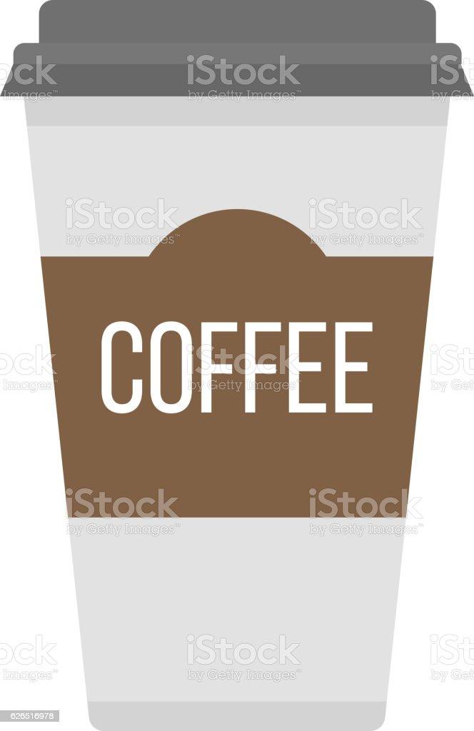 Coffe cup vector illustration. vector art illustration