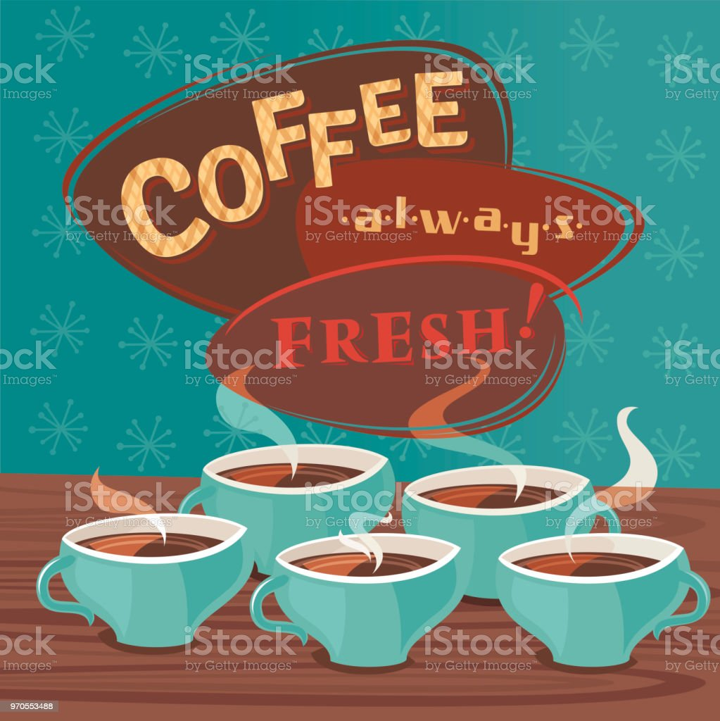 Coffee Always Fresh! royalty-free coffee always fresh stock vector art & more images of breakfast