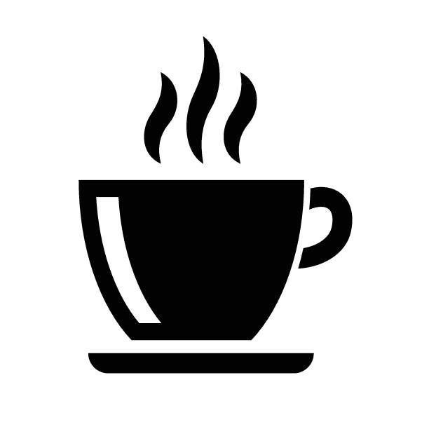 coffee americano icon - stacked tea cups stock illustrations, clip art, cartoons, & icons