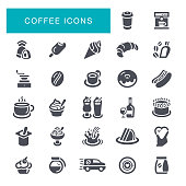 Coffee Shop, Cocktail, Bar - Drink Establishment, Restaurant, Icon Set