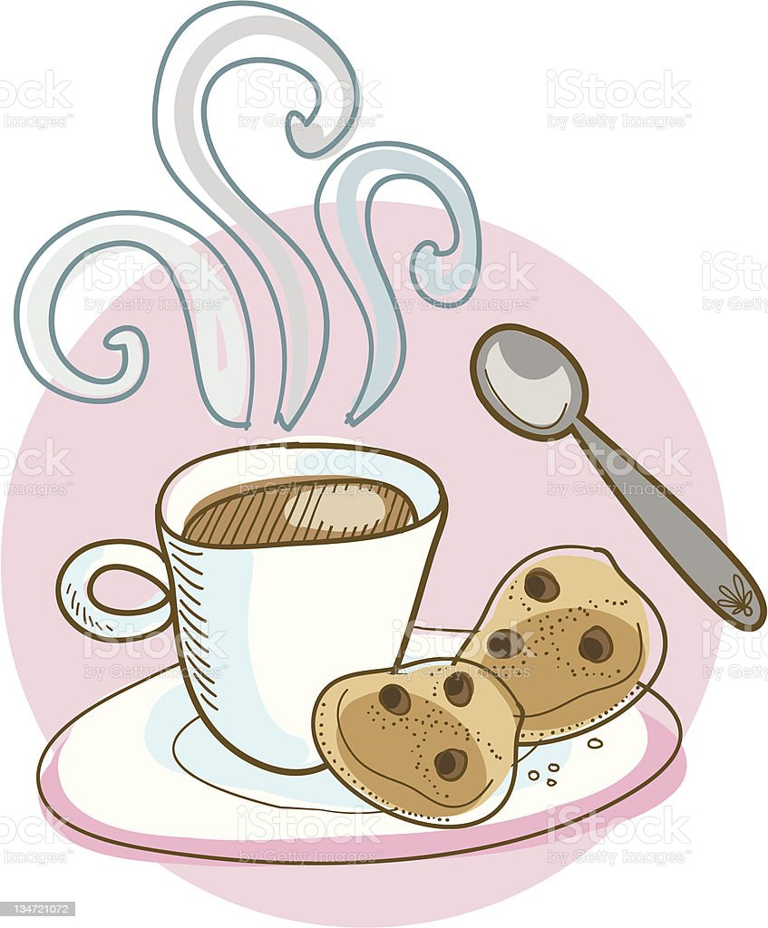 Coffee and cookies! royalty-free coffee and cookies stock vector art & more images of brown
