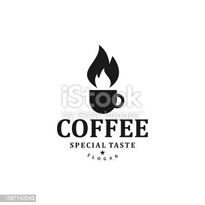 istock coffee and fire icon template,design vector creative concept idea idea 1287142043