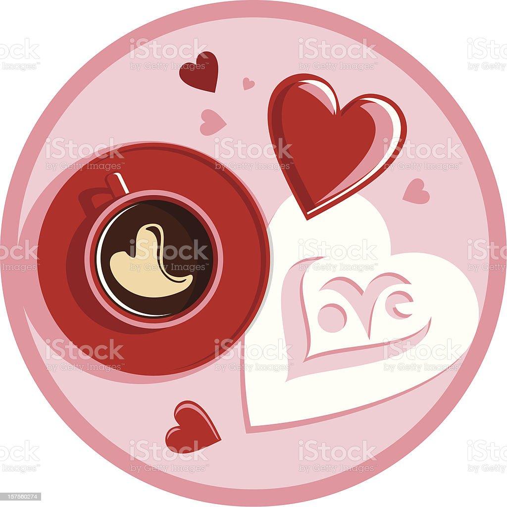 Kaffee und lieben – Vektorgrafik
