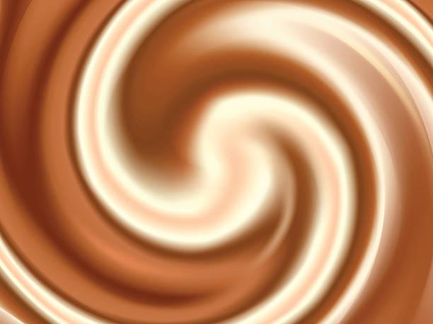Coffee and Milk Cream Abstract Vector Texture vector art illustration