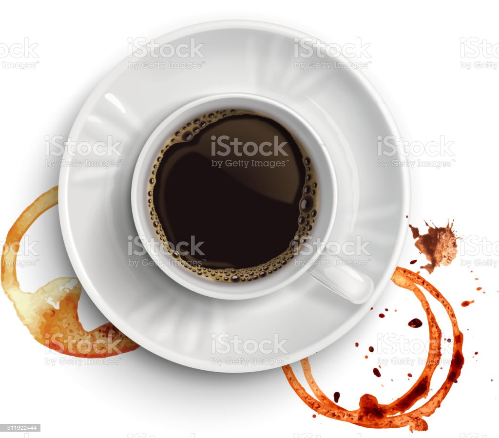 Coffee  and stains vector art illustration