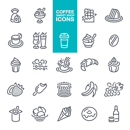 Coffee and sweet shop icons