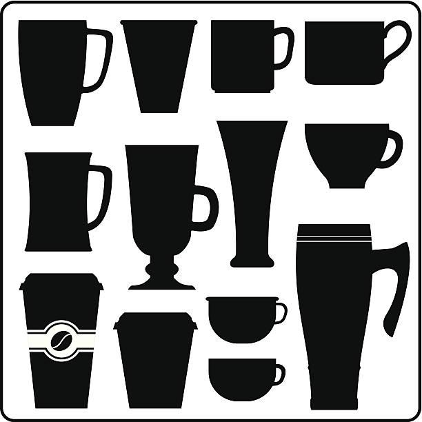 Kaffee und Tee, warmes Getränk Körbchen – Vektorgrafik