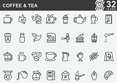 Coffee and Tea Line Icons