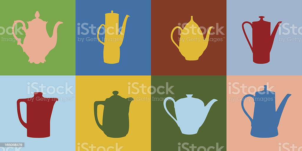 Coffee and Tea Pots royalty-free coffee and tea pots stock vector art & more images of antique