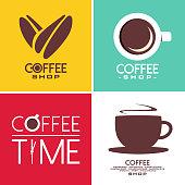 coffee shop design symbol in vector format