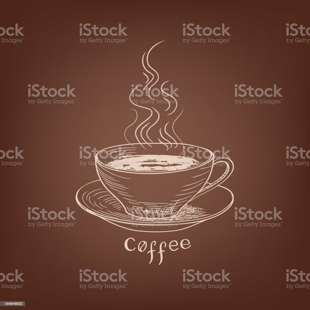 Coffee background. Coffee house concept. vector art illustration