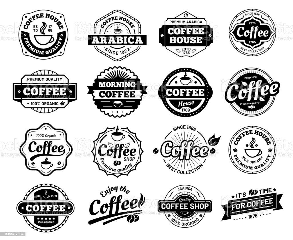 Coffee badges. royalty-free coffee badges stock illustration - download image now