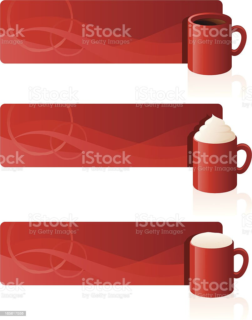 Coffee Banners royalty-free stock vector art