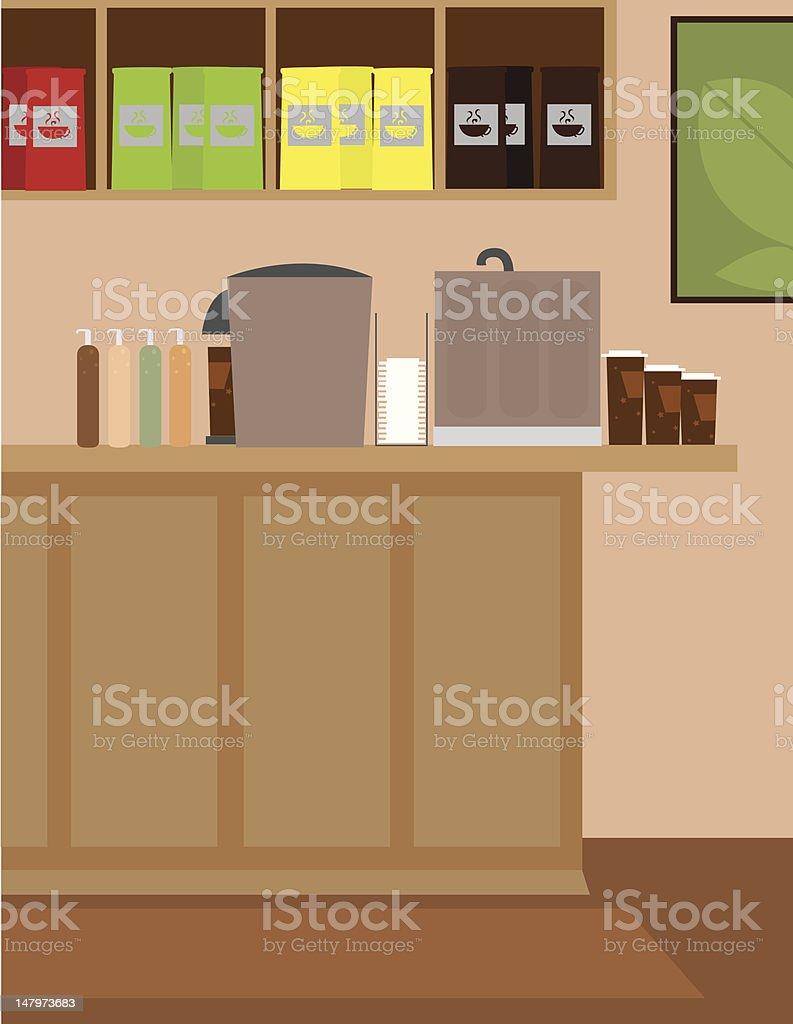 Coffee Bar royalty-free stock vector art