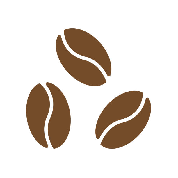 coffee bean, coffee icon - ziarno kawy palonej stock illustrations
