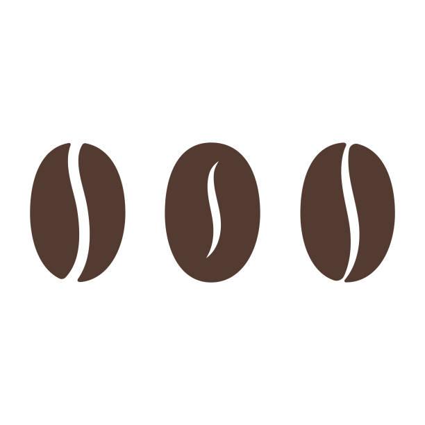 ilustrações, clipart, desenhos animados e ícones de ícone do feijão de café. - café
