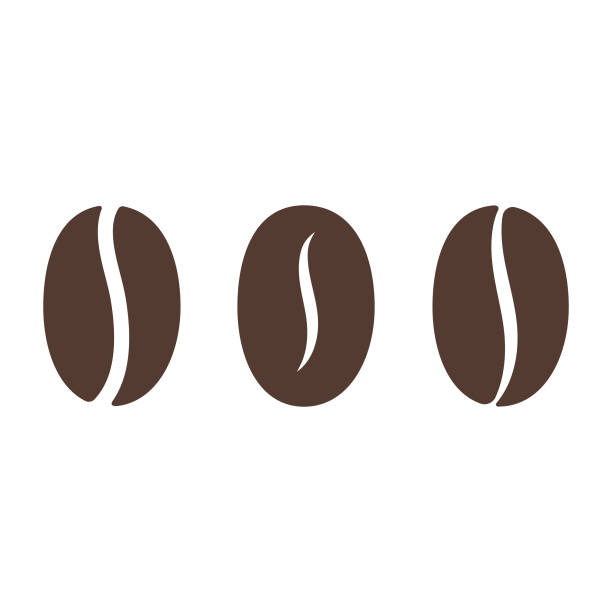 coffee bean icon. - coffee stock-grafiken, -clipart, -cartoons und -symbole