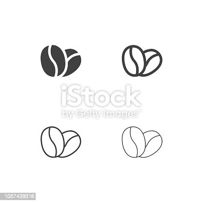Coffee Bean Icons Multi Series Vector EPS File.