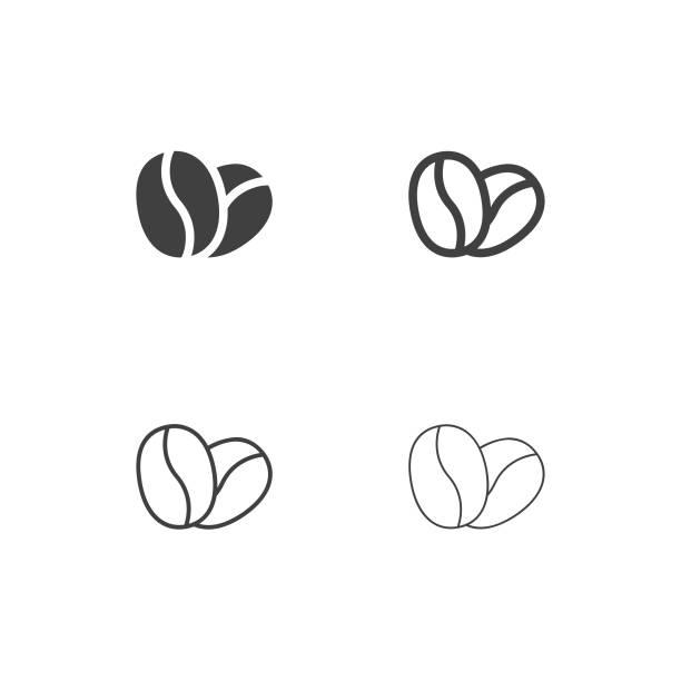 Coffee Bean Icons - Multi Series Coffee Bean Icons Multi Series Vector EPS File. caffeine stock illustrations